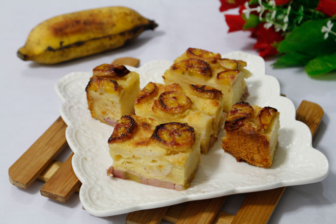 Vietnamese-banh-chuoi-nuong-recipe–How-to-make-baked-banana-cake1