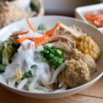 Banh Tam Bi Recipe – Vietnamese vermicelli with pork and coconut cream