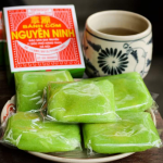 [Original]Banh com recipe – Vietnamese Green rice flake cake
