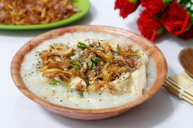 Chao-ga-Recipe–Vietnamese-chicken-congee-rice-porridge 7