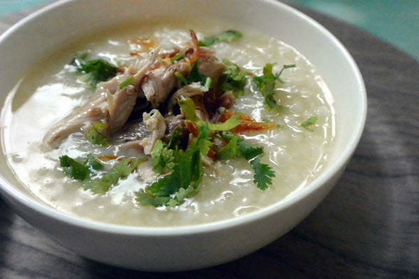 Chao-vit-recipe–Vietnamese-duck-congee-rice-porridge 1