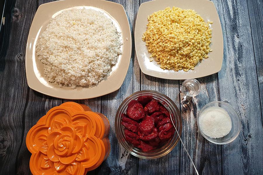 Xoi-gac-recipe–Vietnamese-Baby-jackfruit-sticky-rice 1