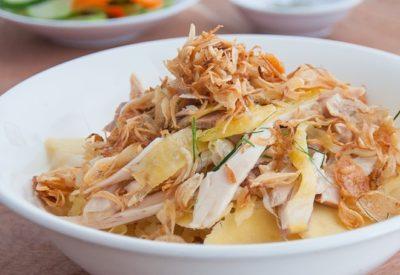 Xoi ga Recipe - How to make sticky rice with chicken