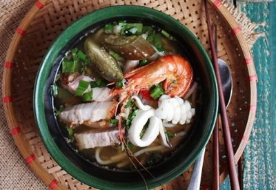 Best Vietnamese bun mam recipe - Rice Vermicelli Soup with fermented fish and seafood