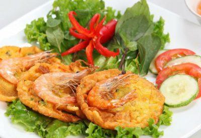 [**Authentic**] Vietnamese banh tom recipe - Sweet potato shrimp fritters