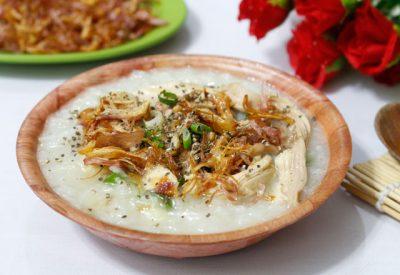 Chao ga Recipe – Vietnamese chicken congee (rice porridge)