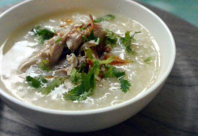 Chao vit recipe – Vietnamese duck congee (rice porridge)