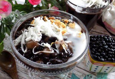 Che dau den recipe - Vietnamese black bean sweet soup