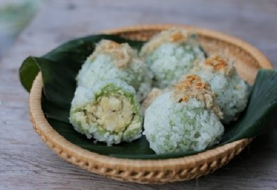 [Authentic] Xoi Banh Khuc Recipe – Cudweed Sticky Rice