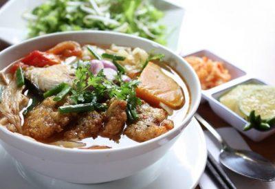 Bun cha ca recipe - Vietnamese fish cake rice noodles soup